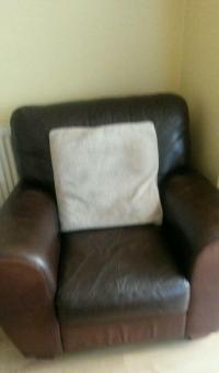 Arm chair and puffy | in Liverpool, Merseyside | Gumtree