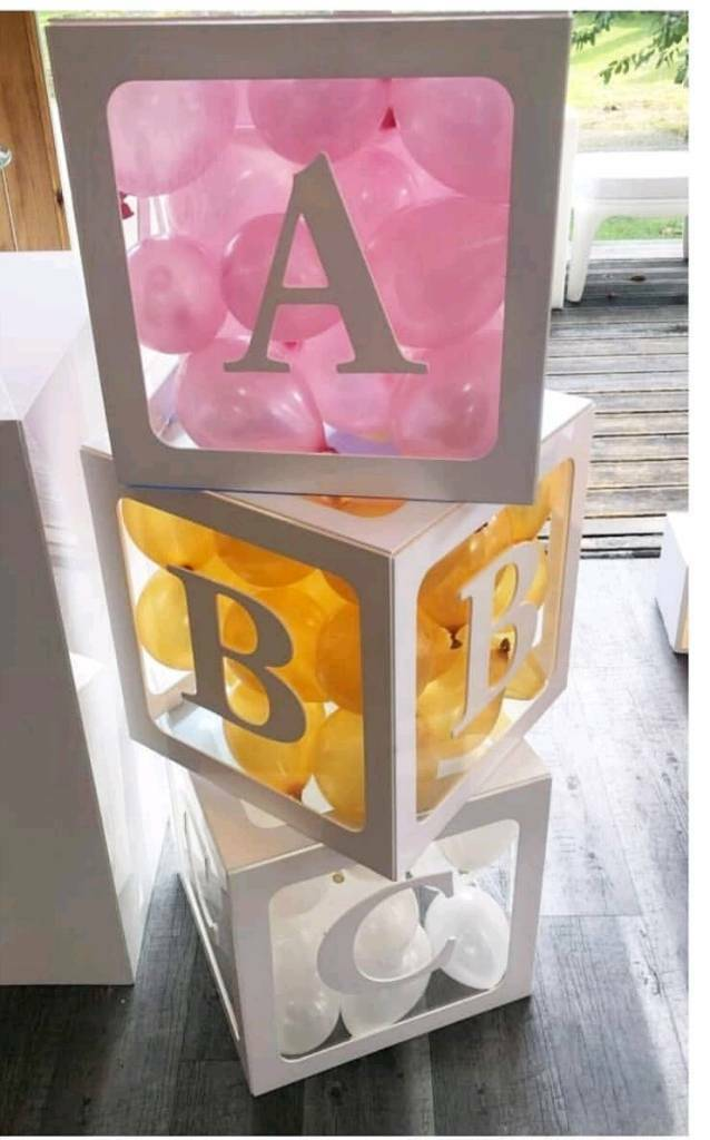 ABC Baby shower blocks boxes available  in South Ockendon