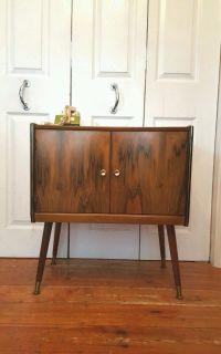 Vintage Walnut Record Cabinet Mid Century | in New Cross ...