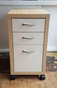 "IKEA Birch & White ""Mikael"" Office Drawer Unit / Filing ..."