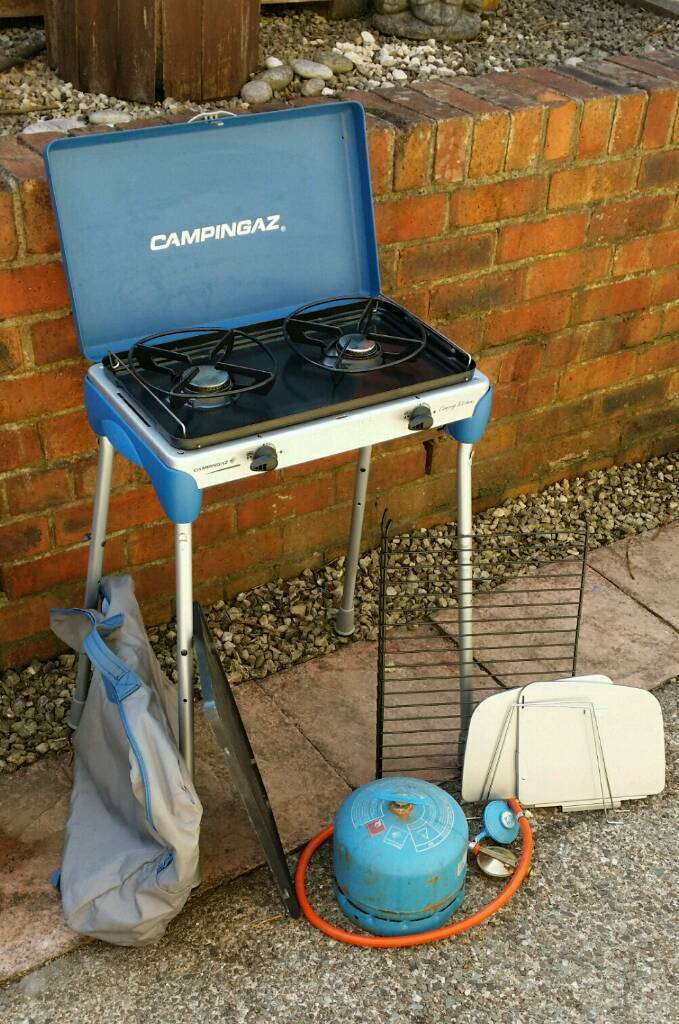 campingaz kitchen cherry cart camping with full gas bottle in polmont falkirk
