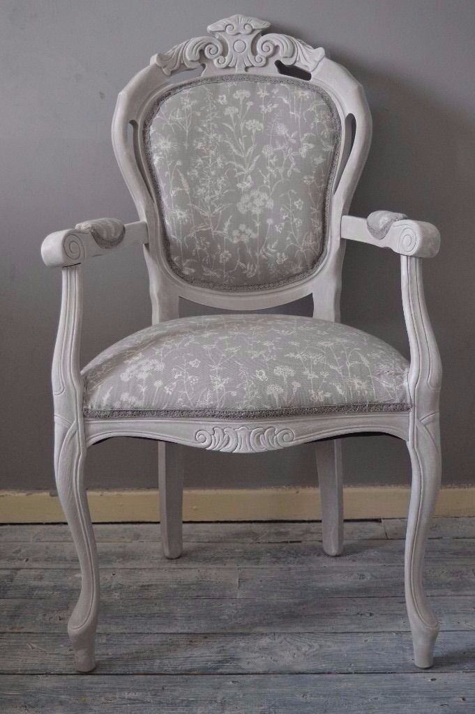 french louis chair wing recliner leather shabby chic with arms laura ashley fabric dining bedroom