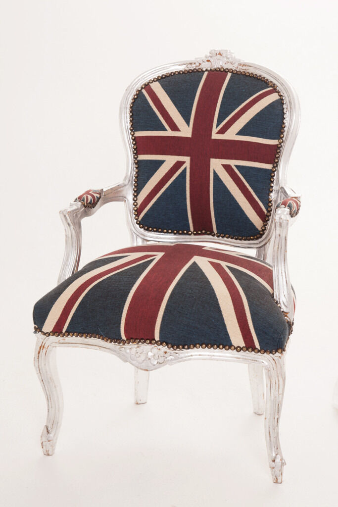 Union Jack Chair  French Louis Style Union Jack Chair