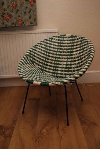 Vintage 50s / 60s Plastic Woven Lloyd Loom Satellite ...