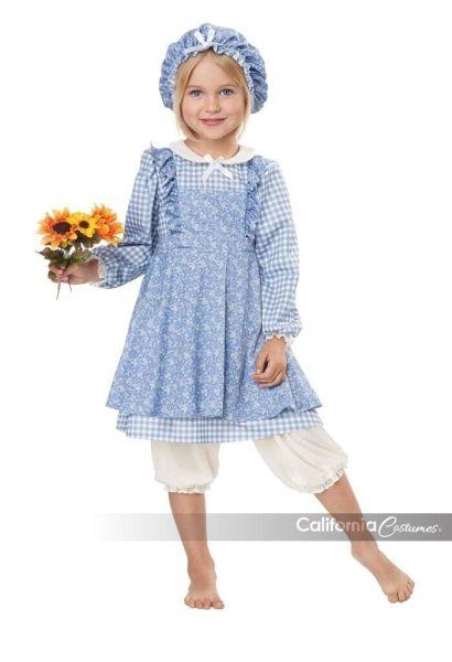 California Costumes Little Prairie Girl Blue Dress Halloween Costume 00188 1
