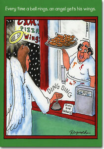 Angel Gets Wings 12 Funny Boxed Christmas Cards By Nobleworks