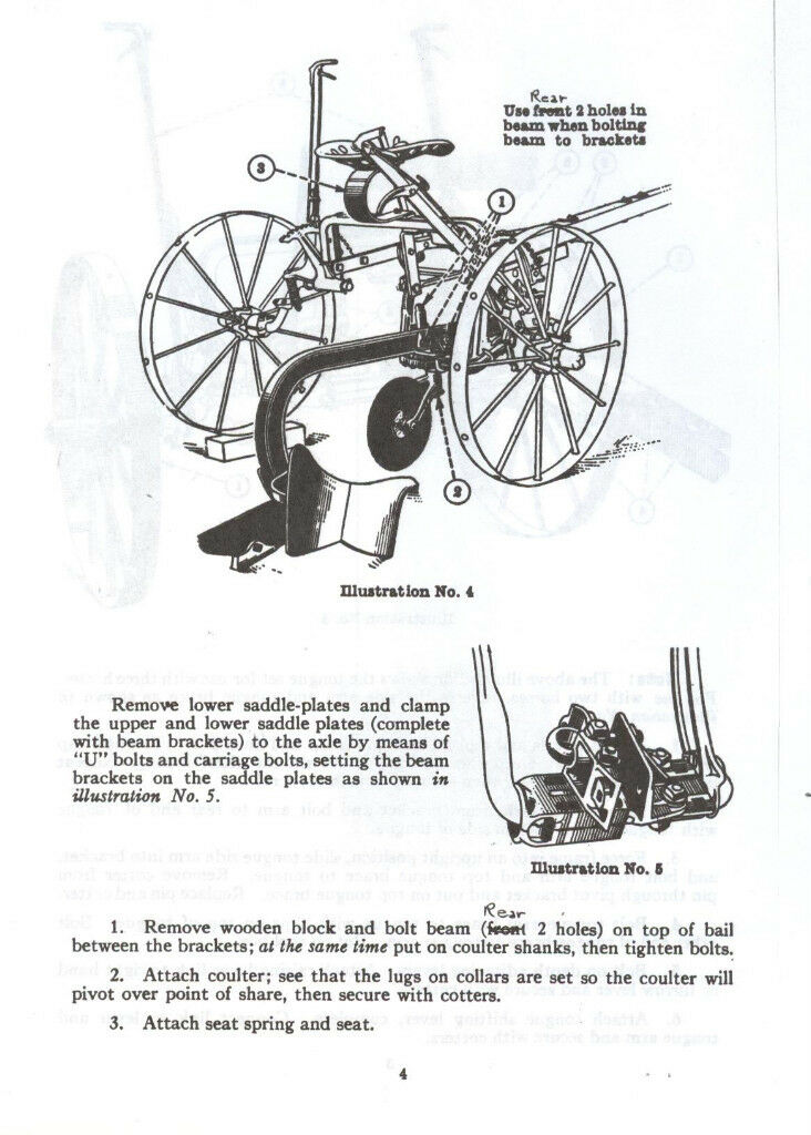 McCormick Deering No 9 Sulky Plow IHC Manual