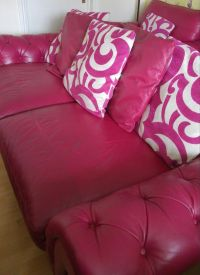 Stunning Pink Sofa Chair and Footstool Burlesque range ...