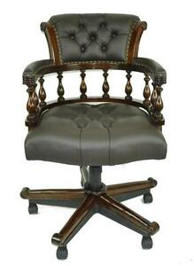 captains chair club leather chairs furniture ebay swivel captain s
