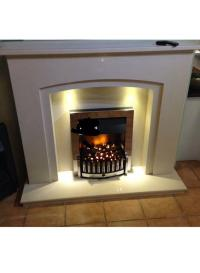 48 Marble Fireplace )NEW) led lights | in Halifax, West ...