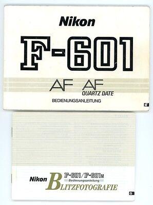 Bedienungsanleitung NIKON F-601 AF Kamera & Blitzgerät F-601 M User Manual (Y149