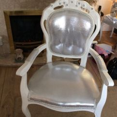Leather Wing Chair Uk Tall Shower Vintage White Louis Dressing Table | In West Derby, Merseyside Gumtree
