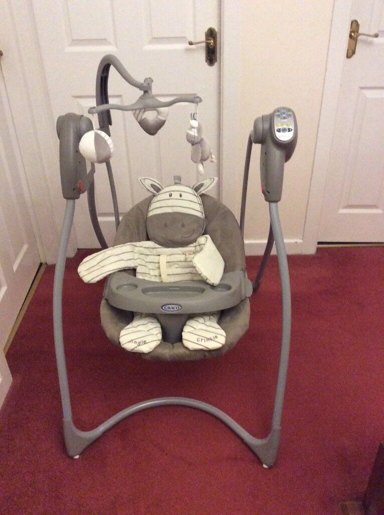 graco swing chair zebra fishing ireland ziggy baby with 6 speeds sounds and music in very good condition