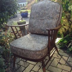 Ercol Chair Design Numbers Green Outdoor Chairs Armchair Complete With Cushions Retro Vintage Needs New Webbing