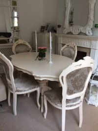 Gorgeous! French Louis Shabby Chic Cream Dining Table 4 ...
