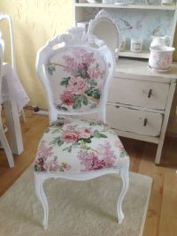 Stunning French Louis shabby chic chair Sanderson fabric ...