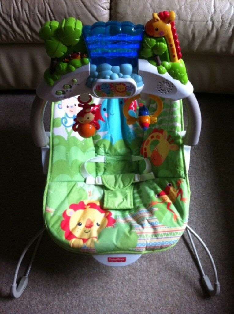 fisher price spacesaver high chair green 2013 korean movie rainforest friends deluxe bouncer interactive | in yate, bristol gumtree
