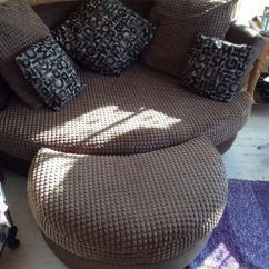 Oval Sofa Recliner Online Purchase Lovely Large Comfortable Round Shape + Footstool ...