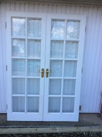 Solid Oak White French Doors | in Middlesbrough, North ...