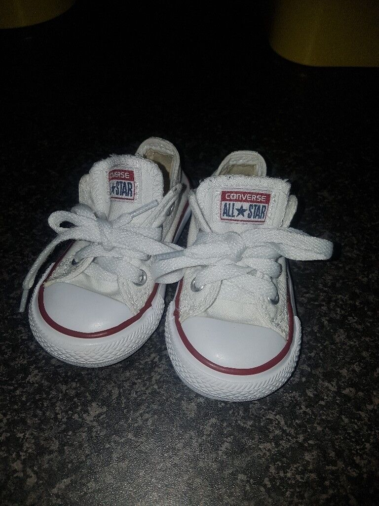voor het hele gezin snelle levering online winkel Baby White Converse Pram Shoes | Baby Shoes