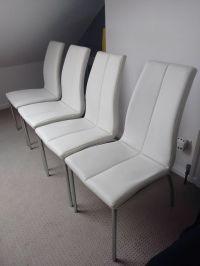 Next White Faux Leather Dining Chairs - faux leather ...