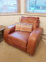 Single Leather Brown Sofa For Sale Wimbledon   in ...