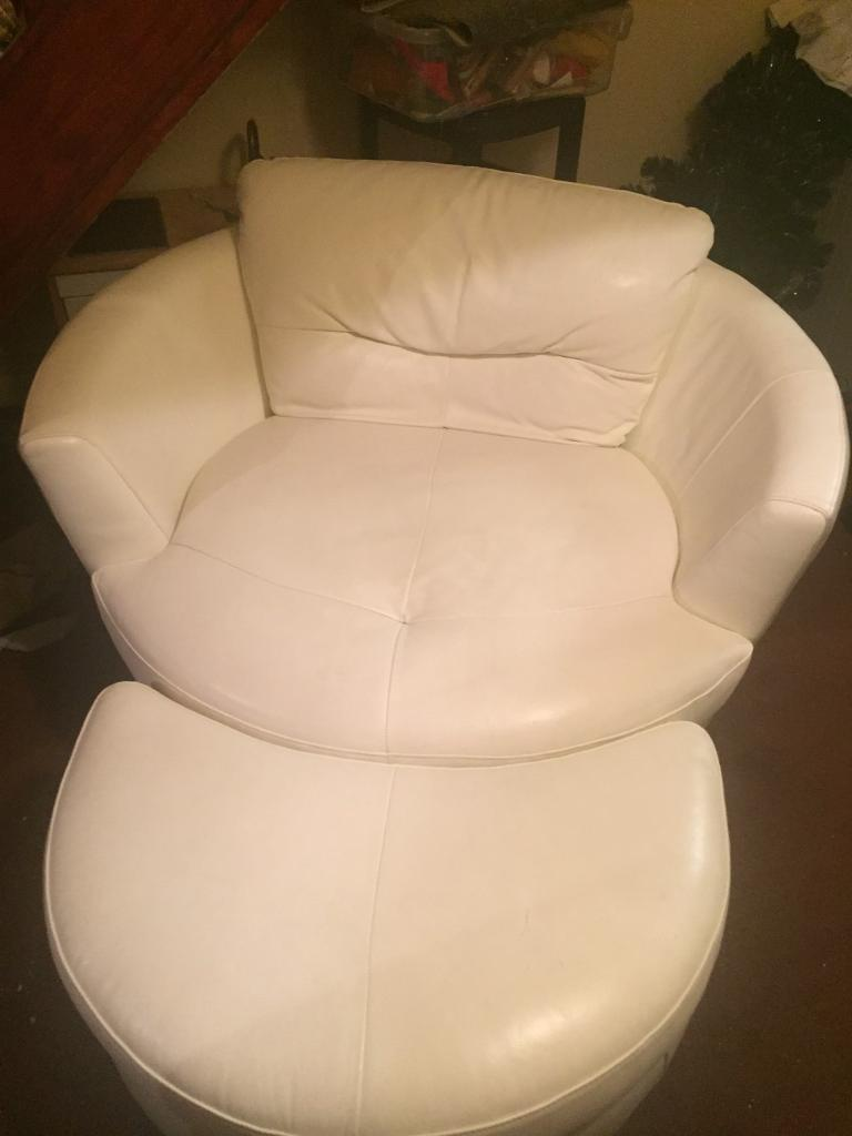 swivel cuddle chair york dining covers target australia cream leather and stool in north yorkshire