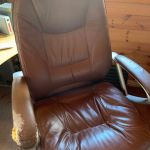 Staples Brown Leather Executive Office Chairs Now Only 3 Left Reduced In Poole Dorset Gumtree