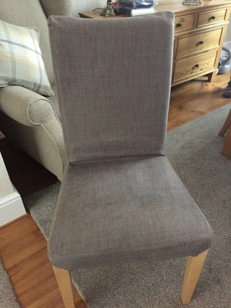 ikea replacement chair covers glider rocking with ottoman henriksdal grey x 2 dining chairs