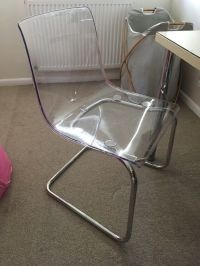IKEA OFFICE CHAIR TOBIAS Transparent/chrome-plated | in ...