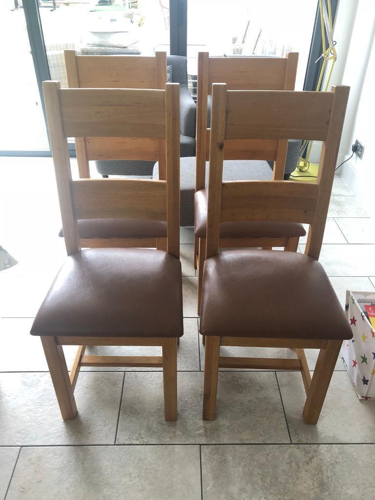 oak kitchen chairs countertop trends solid wood x 6 in surrey gumtree