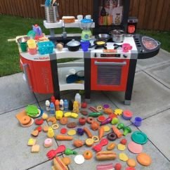 Childrens Play Kitchen Round Table Seats 8 Smoby Tefal Kids Toy 35 Ono Comes With Accessories Food Utensils Rrp