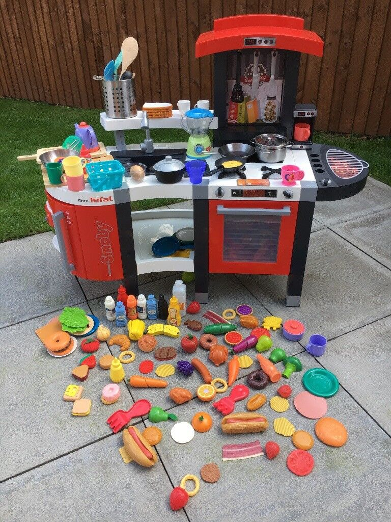 childrens play kitchen ceramic floor tiles smoby tefal kids toy 35 ono comes with accessories food utensils rrp