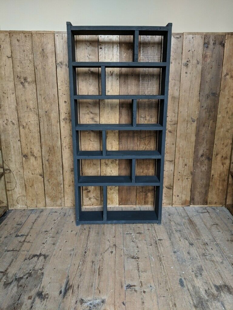 Black Zig Zag Pigeon Holes Bookcase Bookcase Free Delivery Brighton Uk Vintage Furniture Gplanera In Brighton East Sussex Gumtree