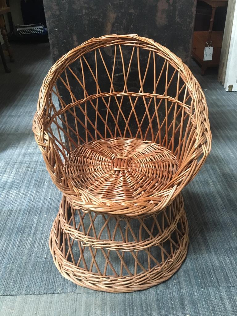 wicker chair for sale aluminum rocking folding vintage kids in southside glasgow gumtree