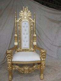 BRAND NEW Lion King Throne Chair Ornate French in Gold ...
