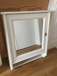 IKEA Flaren white bathroom cabinet mirror