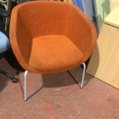 Orange Bucket Chair Wingback Desk Metal Legs In Smithdown Road Merseyside