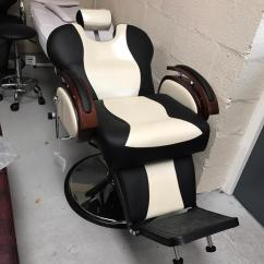 White Barber Chair Uk Ikea Leather Chairs New Heavy Duty Black Bx 2685b In