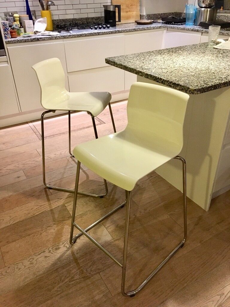 ikea kitchen bar hardware on cabinets stools pair white and chrome in muswell hill