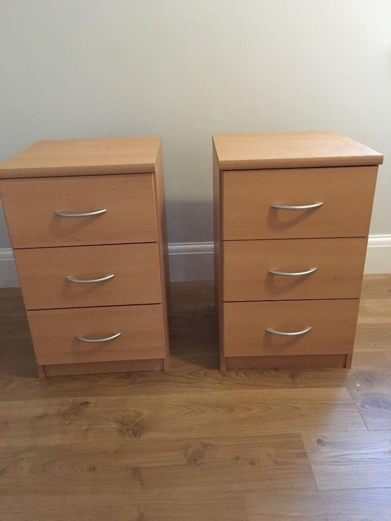 Lima beech 3 drawer bedside cabinet for Sideboard 3 00 m