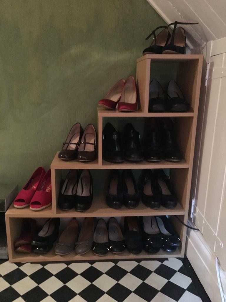 Oak colour under stairs triangle shoe rack storage  in Heath Cardiff  Gumtree