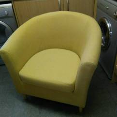 Large Tub Chair Pink Hydraulic Salon In Sunny Yellow Colour With Light Wood Legs