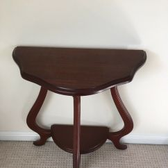 Mahogany Side Tables Living Room Diy Rustic Furniture Solid Table Ideal For Hall Or Bedroom Excellent Condition