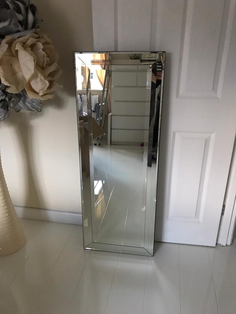 large wall mirror in