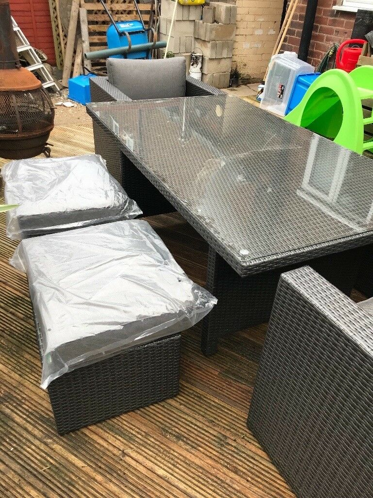 Next Rattan garden furniture table and chairs  in