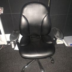 Revolving Chair Gumtree Walmart Metal Chairs Black Office Lumbar Support In East End Glasgow