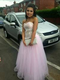 Pink and white prom dress | in Sheffield, South Yorkshire ...