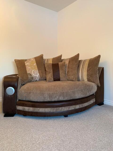 swivel chair sofa set wooden lynchburg va open to sensible offers scs kirk sound corner footstool