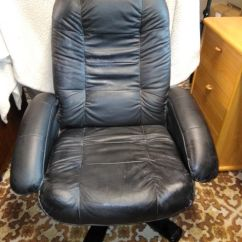 Revolving Chair Gumtree Oversized Outdoor Chairs Faux Leather Black Swivel In Saintfield County Down